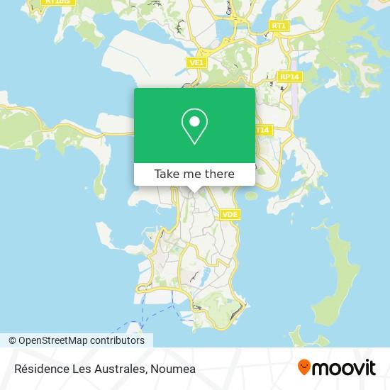 Résidence Les Australes map