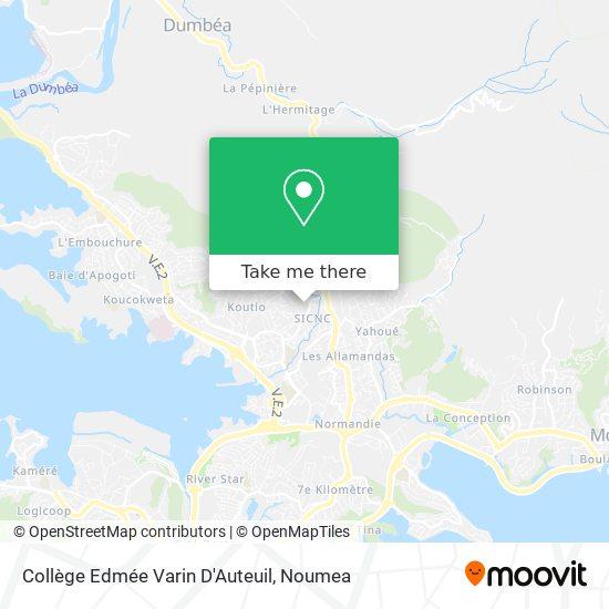 Collège Edmée Varin D'Auteuil map