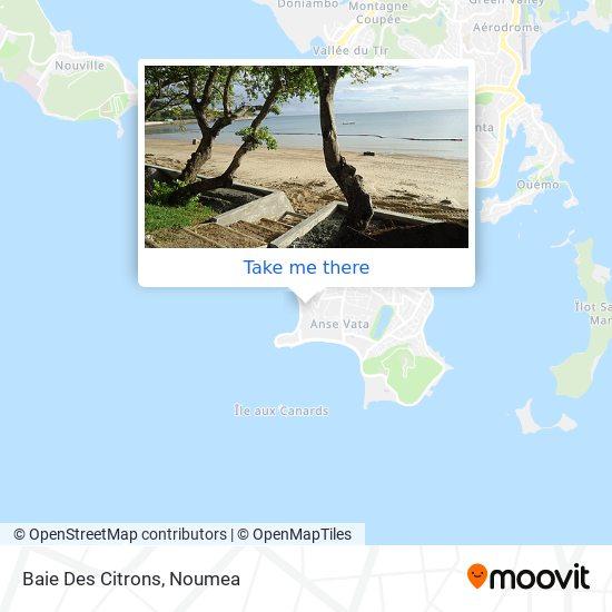 Baie Des Citrons map