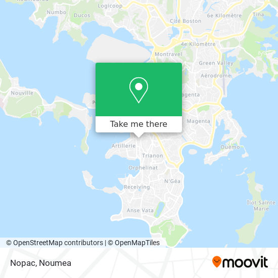 Nopac map