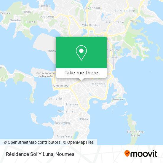 Résidence Sol Y Luna map