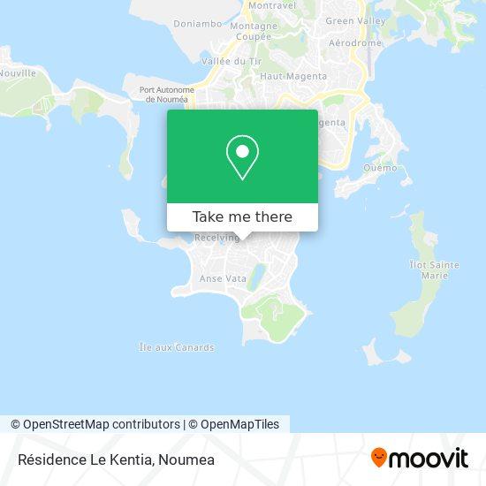 Résidence Le Kentia map