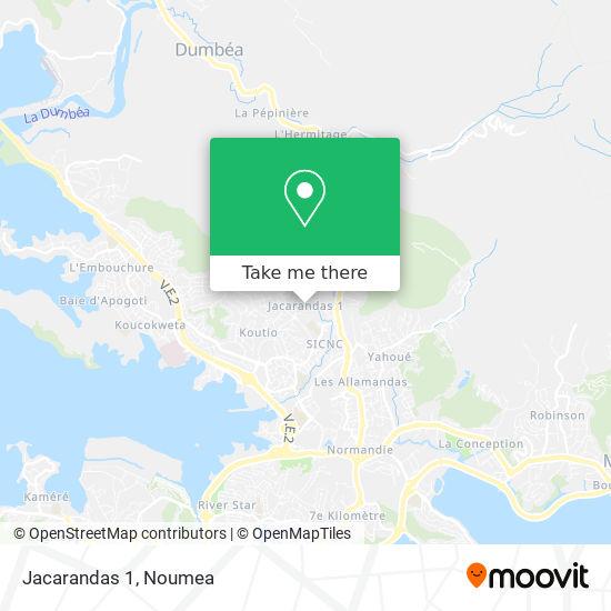 Jacarandas 1 map