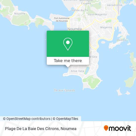 Plage De La Baie Des Citrons map