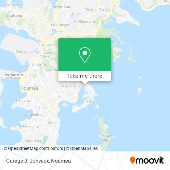 Garage J. Jonvaux map