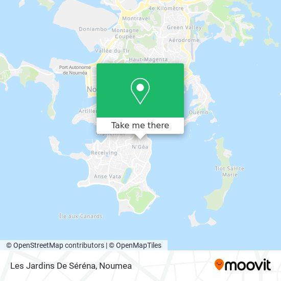 Les Jardins De Séréna map