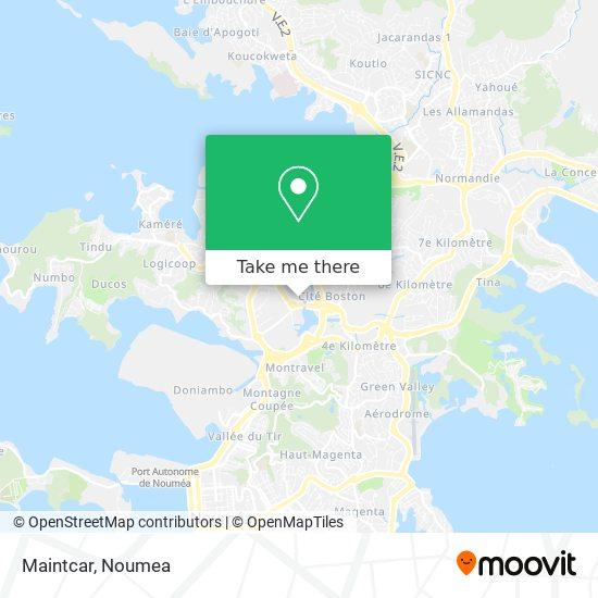 Maintcar map