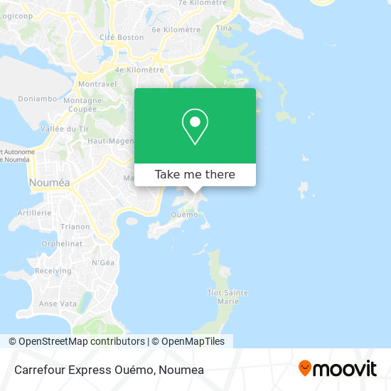 Carrefour Express Ouémo map