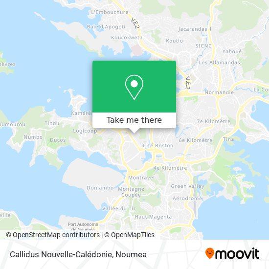 Callidus Nouvelle-Calédonie map