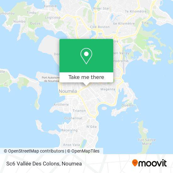 Sc6 Vallée Des Colons map