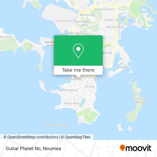Guitar Planet Nc map