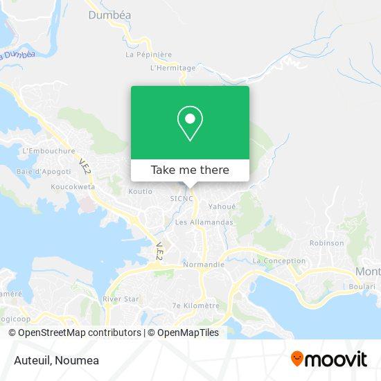Auteuil map