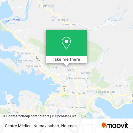 Centre Médical Numa Joubert map