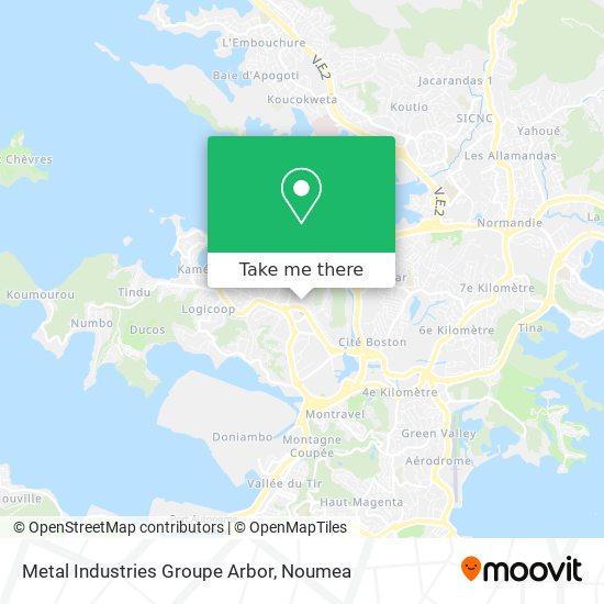 Metal Industries Groupe Arbor map