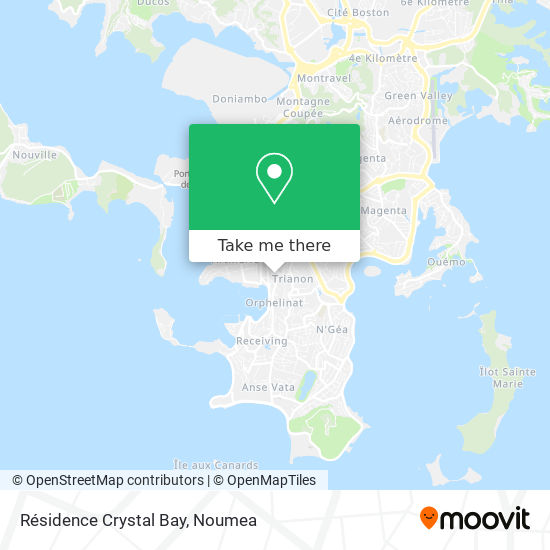 Résidence Crystal Bay map