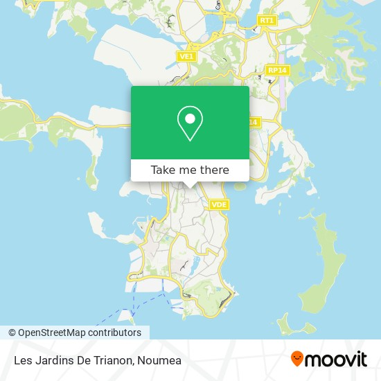 Les Jardins De Trianon map