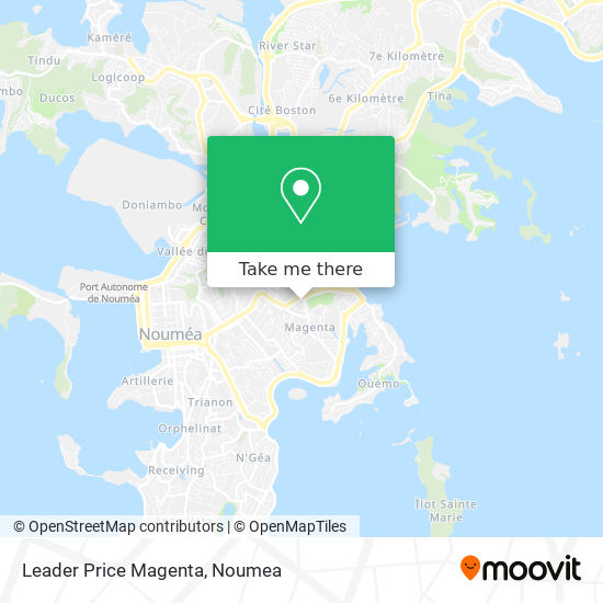 Leader Price Magenta map