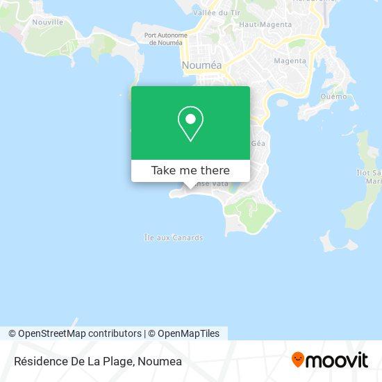 Résidence De La Plage map