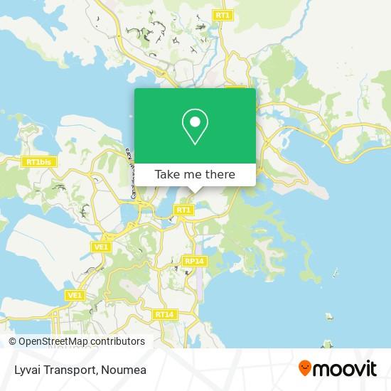 Lyvai Transport map