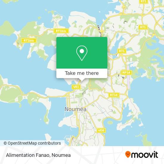 Alimentation Fanao map