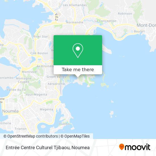 Entrée Centre Culturel Tjibaou map