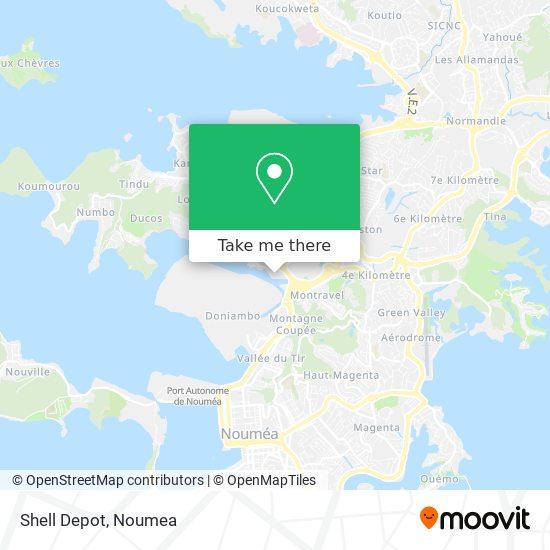 Shell Depot map