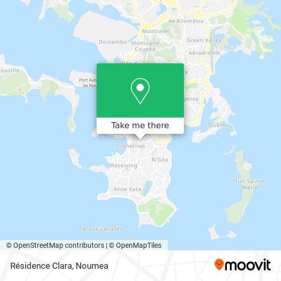 Résidence Clara map