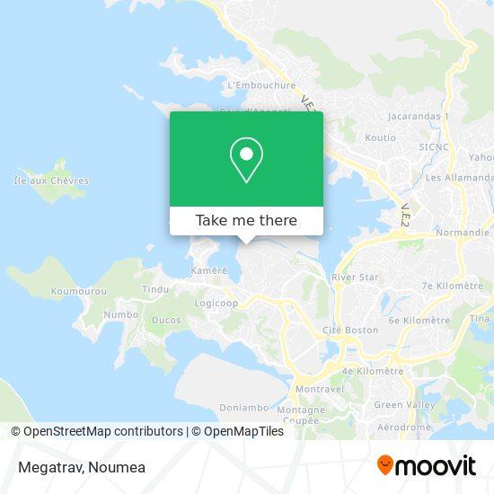 Megatrav map