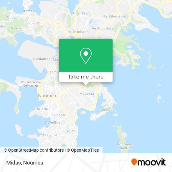 Midas Magenta map