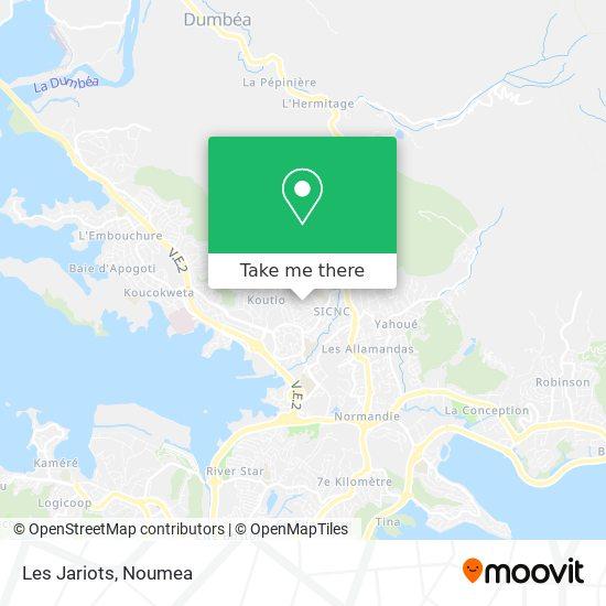 Les Jariots map