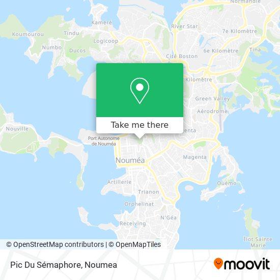 Pic Du Sémaphore map