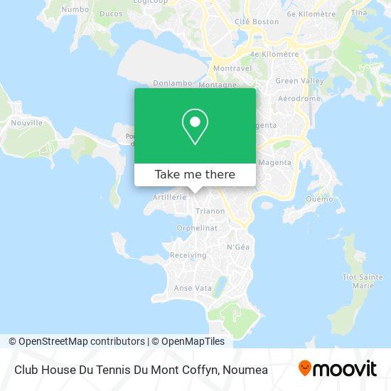 Club House Du Tennis Du Mont Coffyn map
