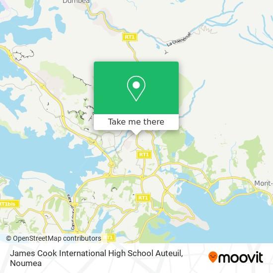 James Cook International High School Auteuil map