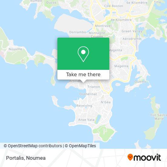 Portalis map