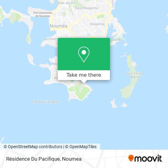 Résidence Du Pacifique map