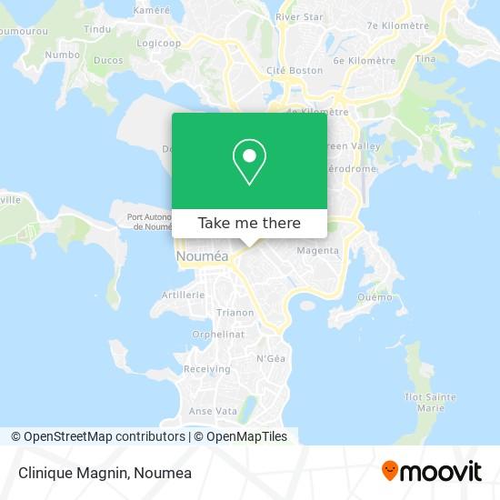 Clinique Magnin map