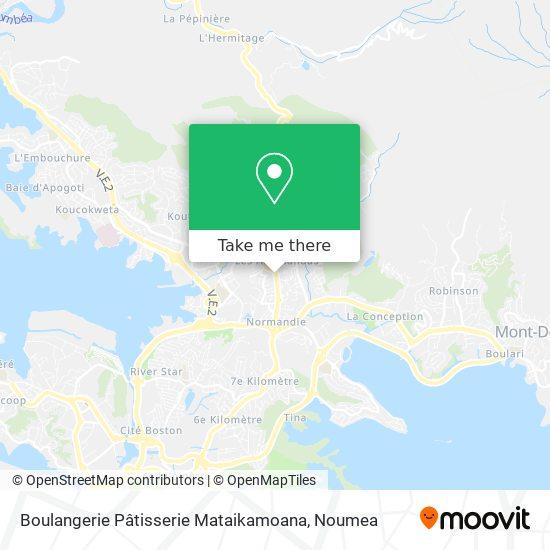 Boulangerie Pâtisserie Mataikamoana map