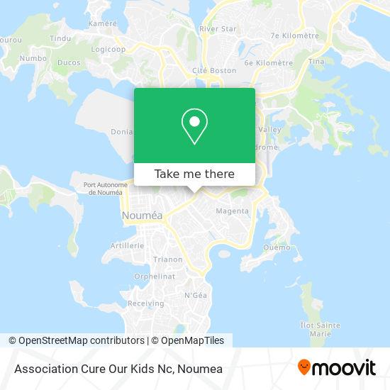 Association Cure Our Kids Nc map