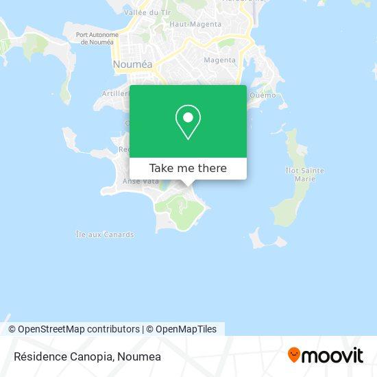 Résidence Canopia map
