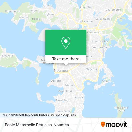 École Maternelle Pétunias map