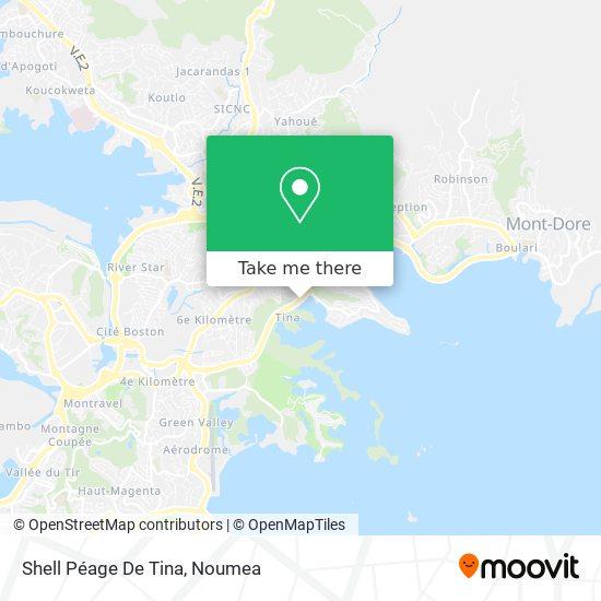 Shell Péage De Tina map