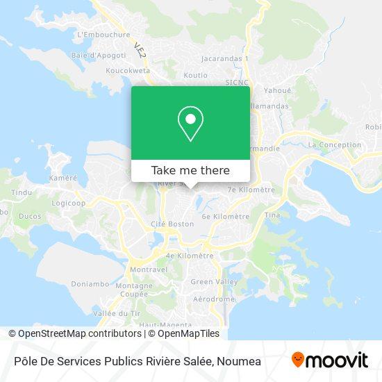 Pôle De Services Publics Rivière Salée map