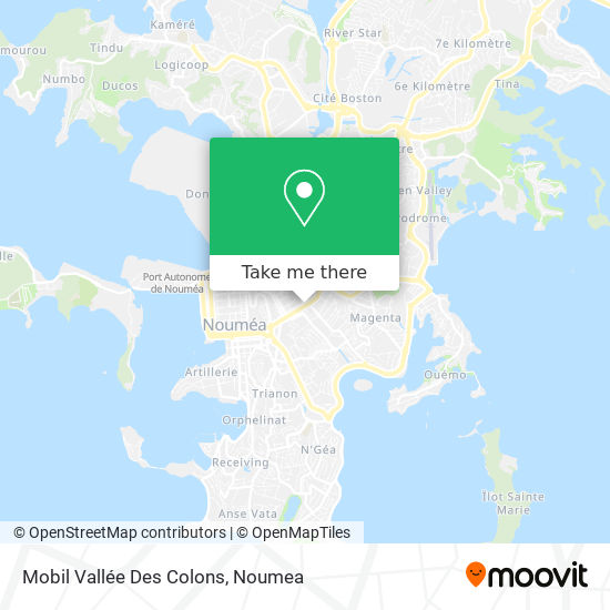 Mobil Vallée Des Colons map