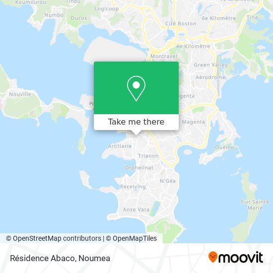 Résidence Abaco map