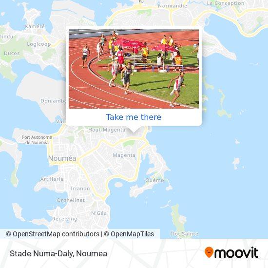 Stade Numa Daly map