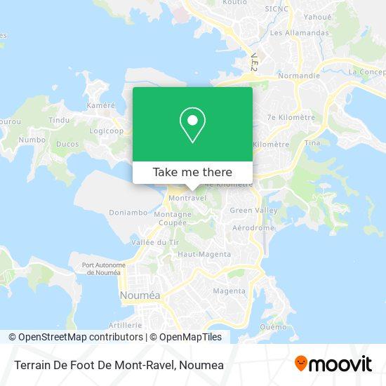 Terrain De Foot De Mont-Ravel map