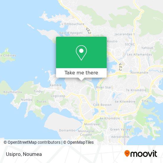 Usipro map