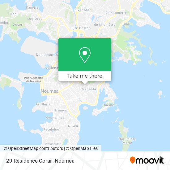 29 Résidence Corail map