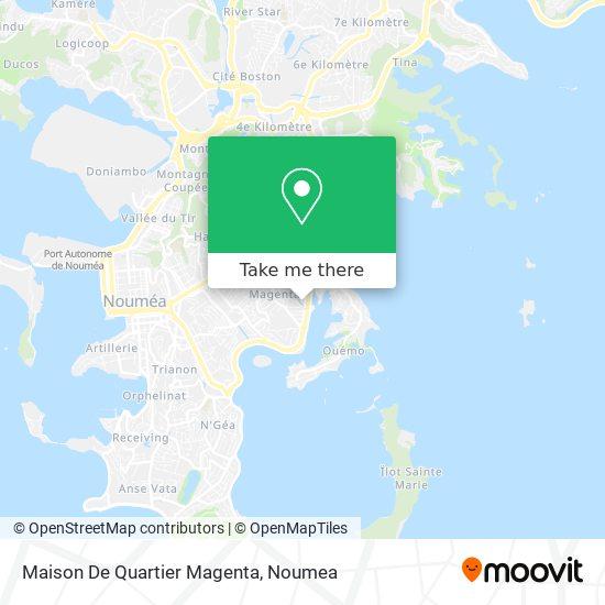 Maison De Quartier Magenta map