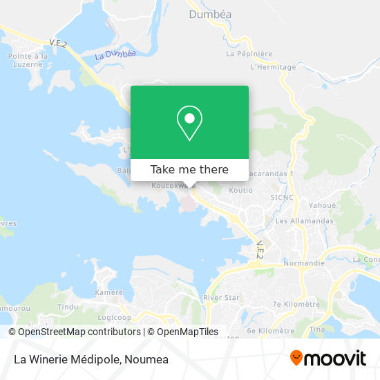 La Winerie Médipole map
